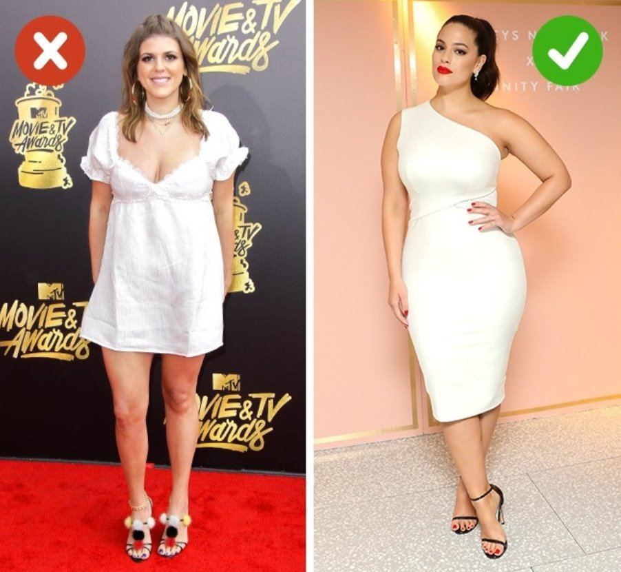 You will look fat if you wear light clothes