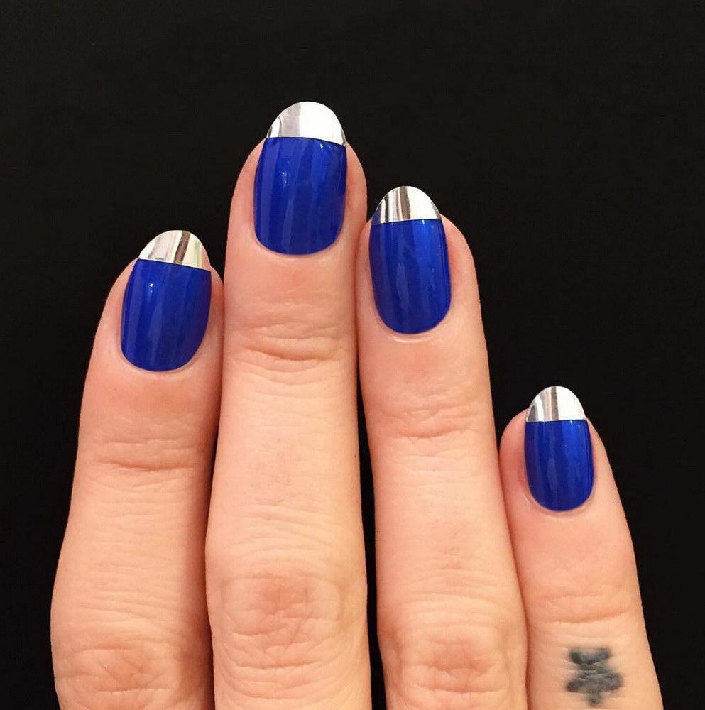 almond chrome nails