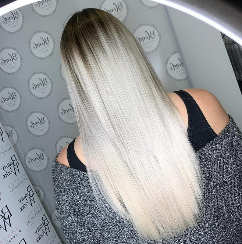 ash blonde extensions