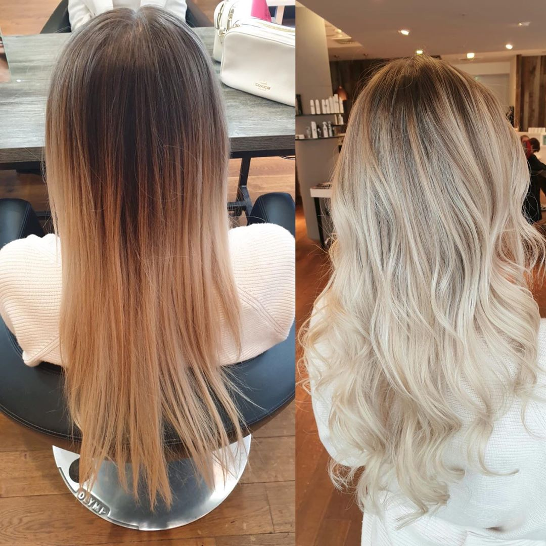ash blonde hair before and after