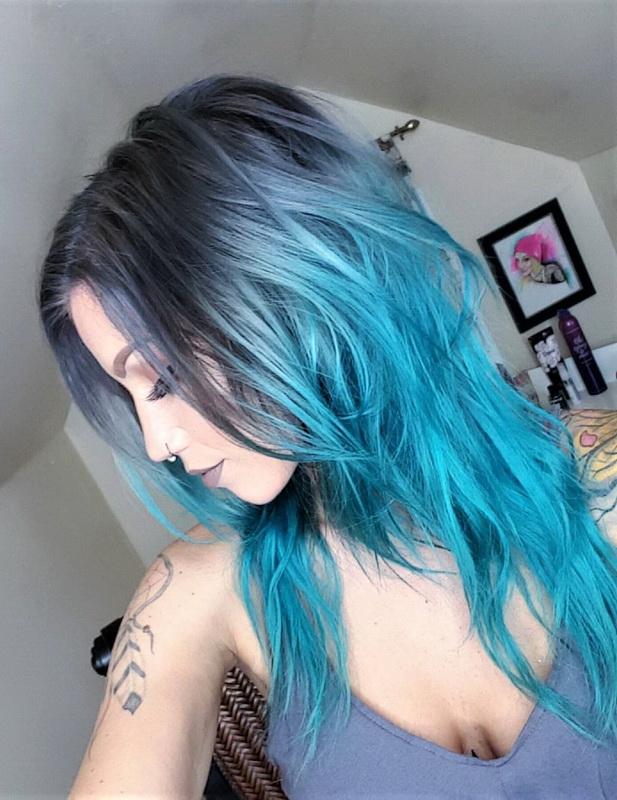 black blue hair dye