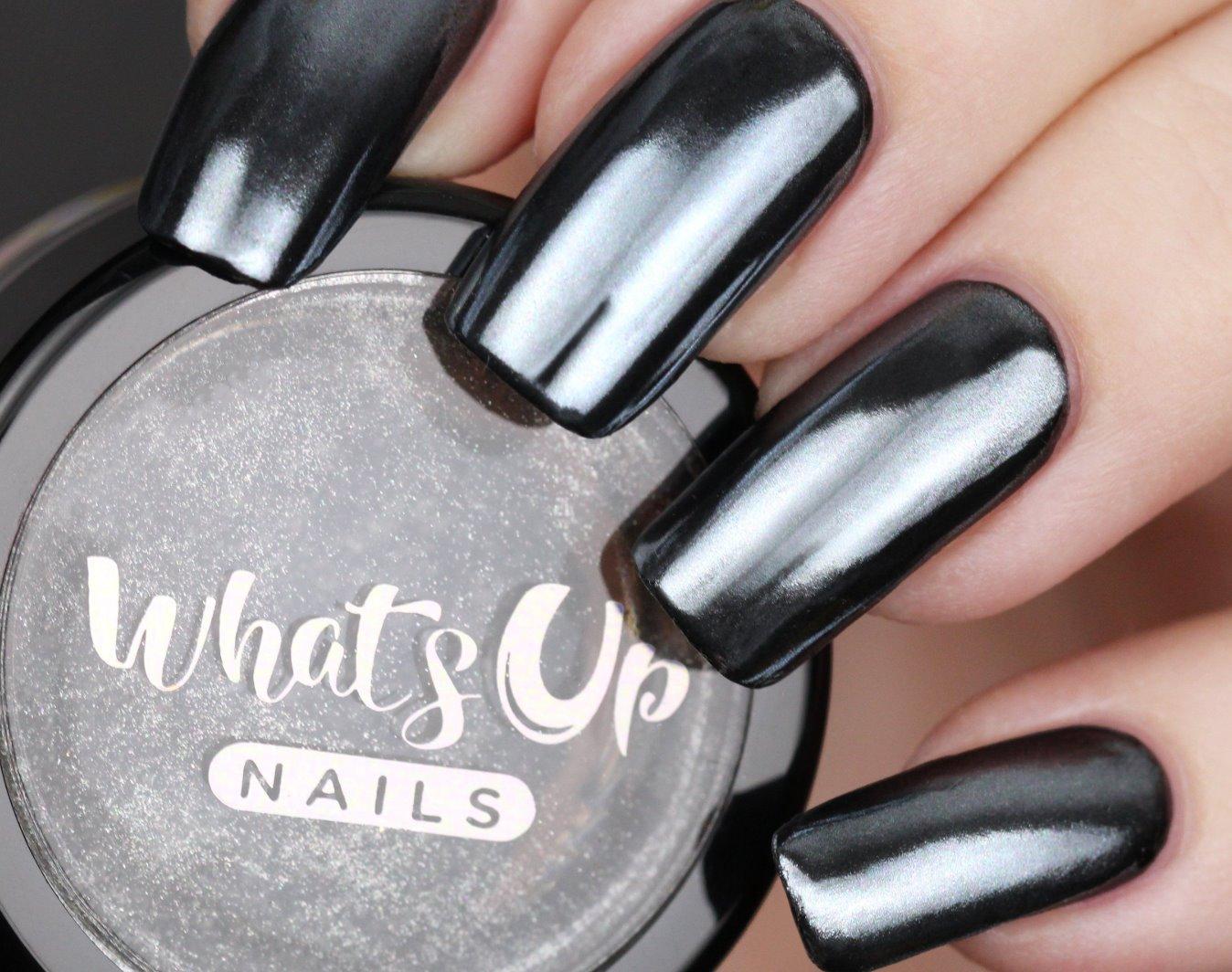 black chrome nails