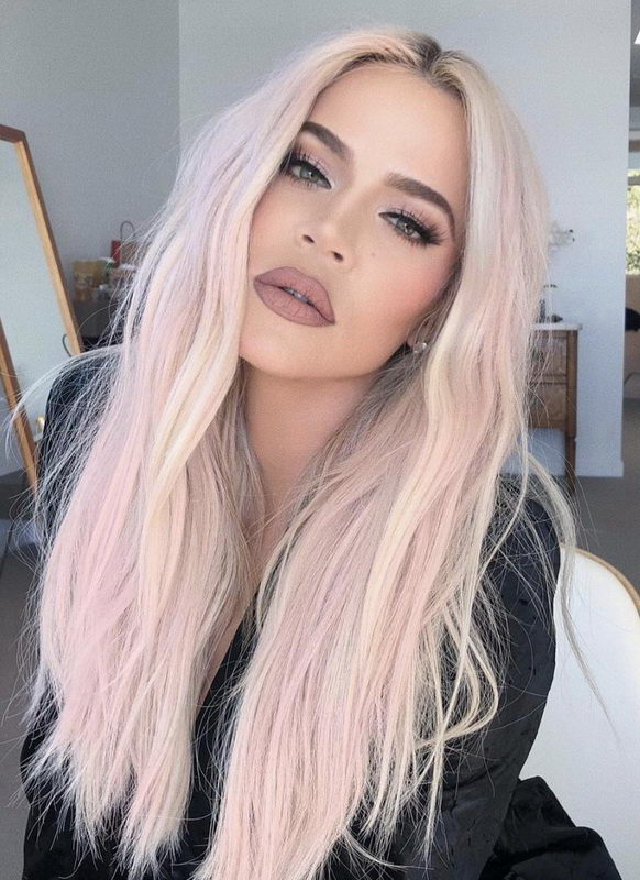 blonde hair with pink highlights