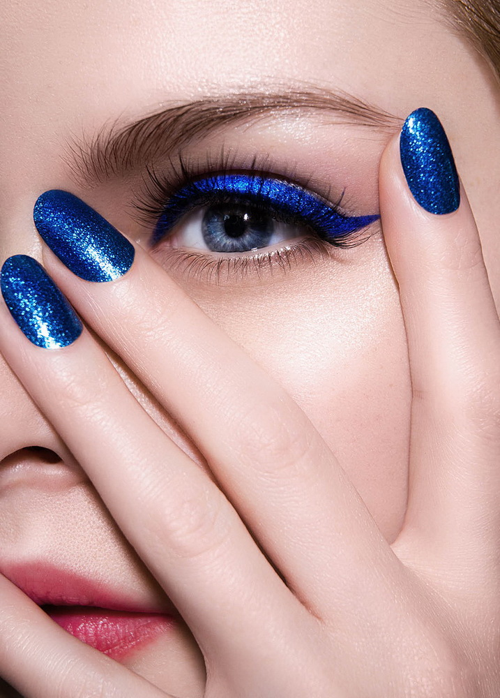 blue glitter regal nails