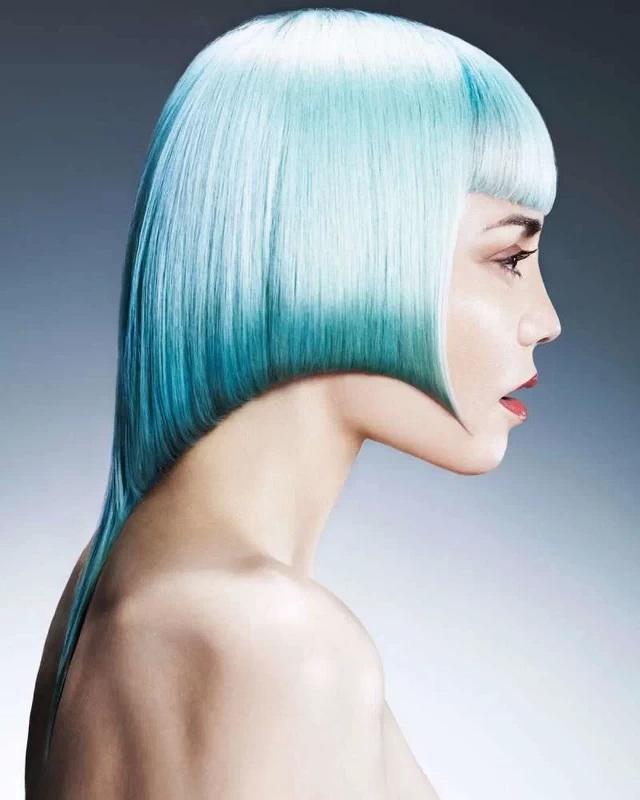 blue gray hair