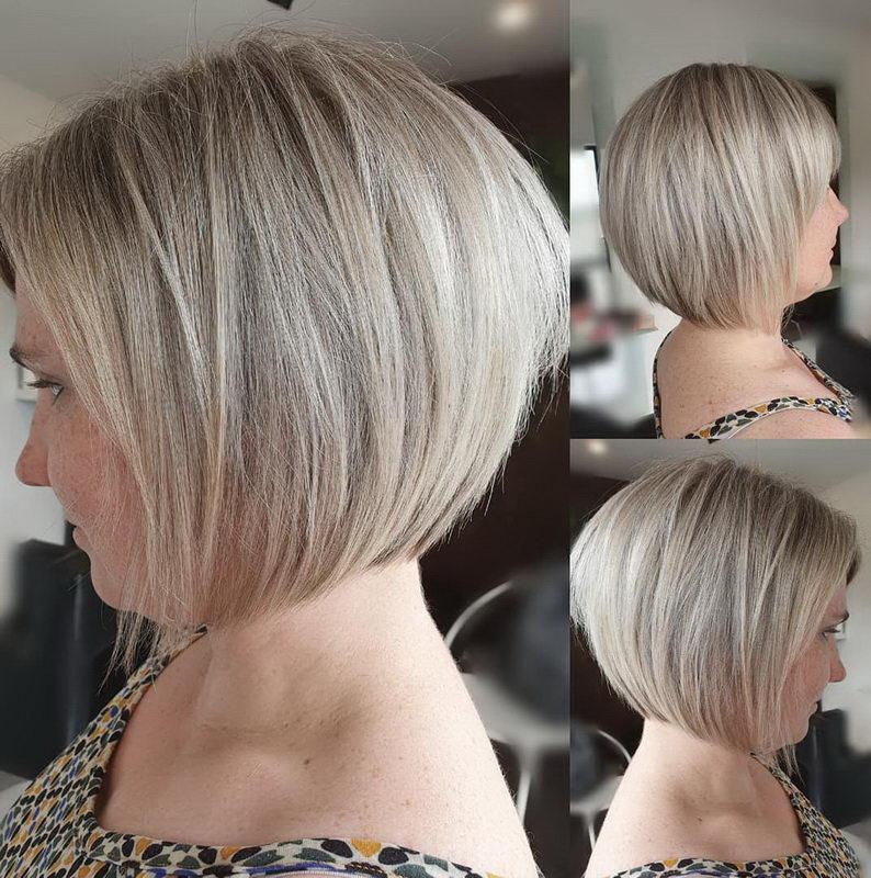 bob hair ash blonde