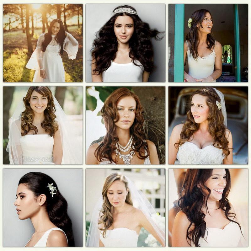bride wavy hair