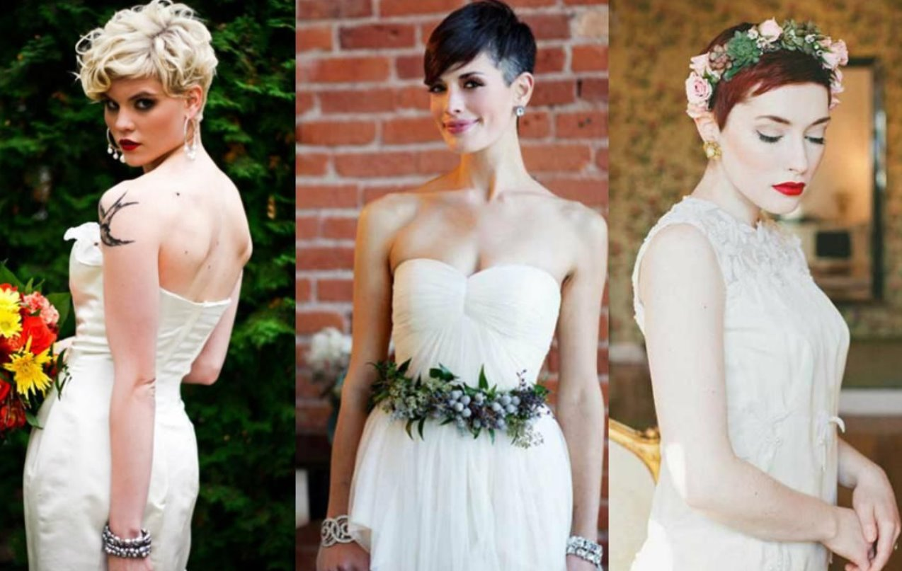 brides short haircuts