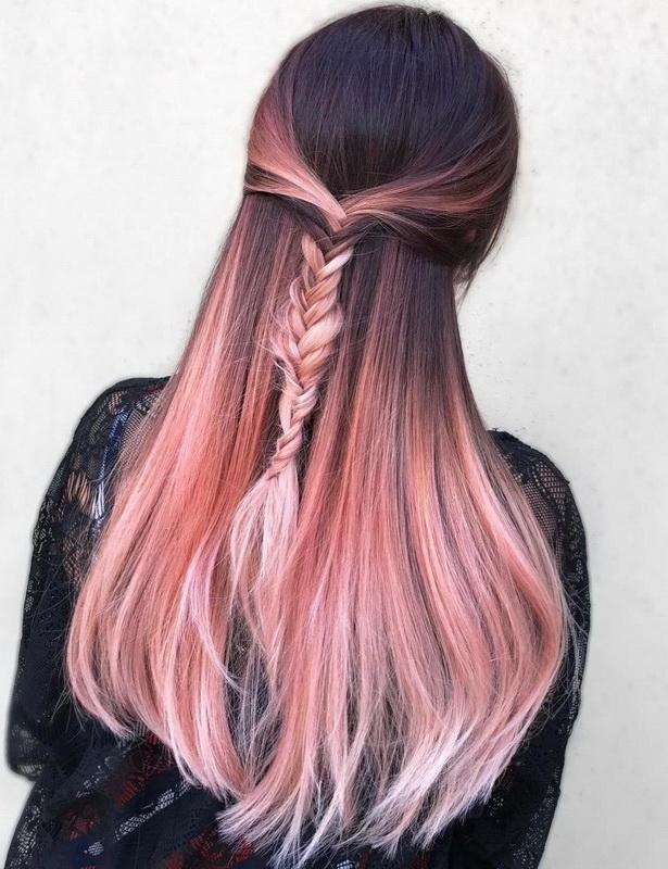 brown rose gold hair