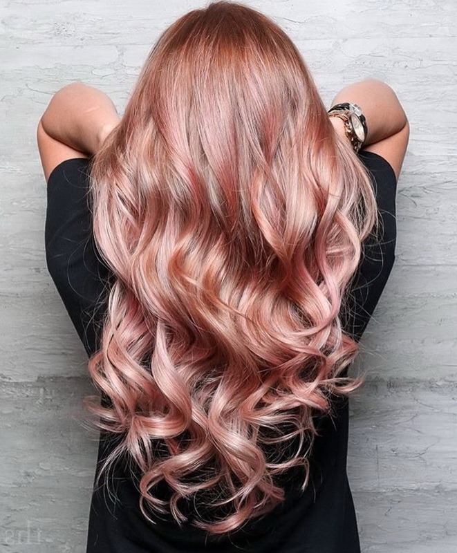 chocolate rose gold hair