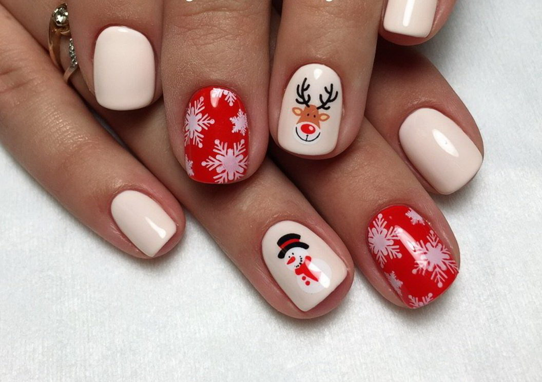 christmas fake nails