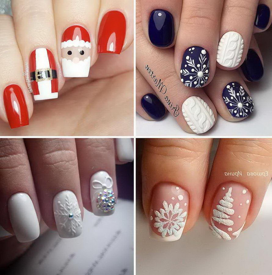 christmas red nails ideas
