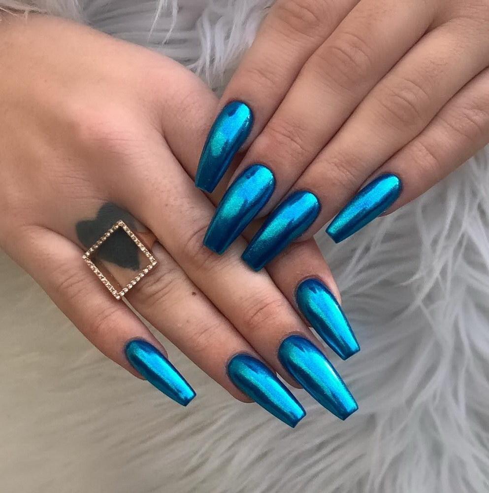 chrome acrylic nails
