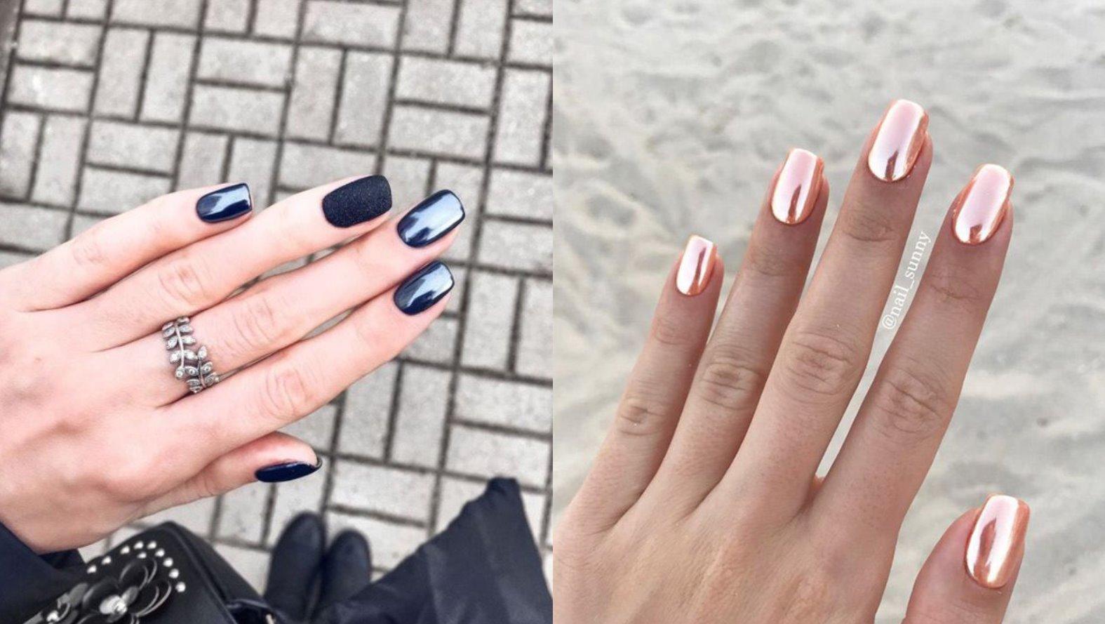 chrome nails designs