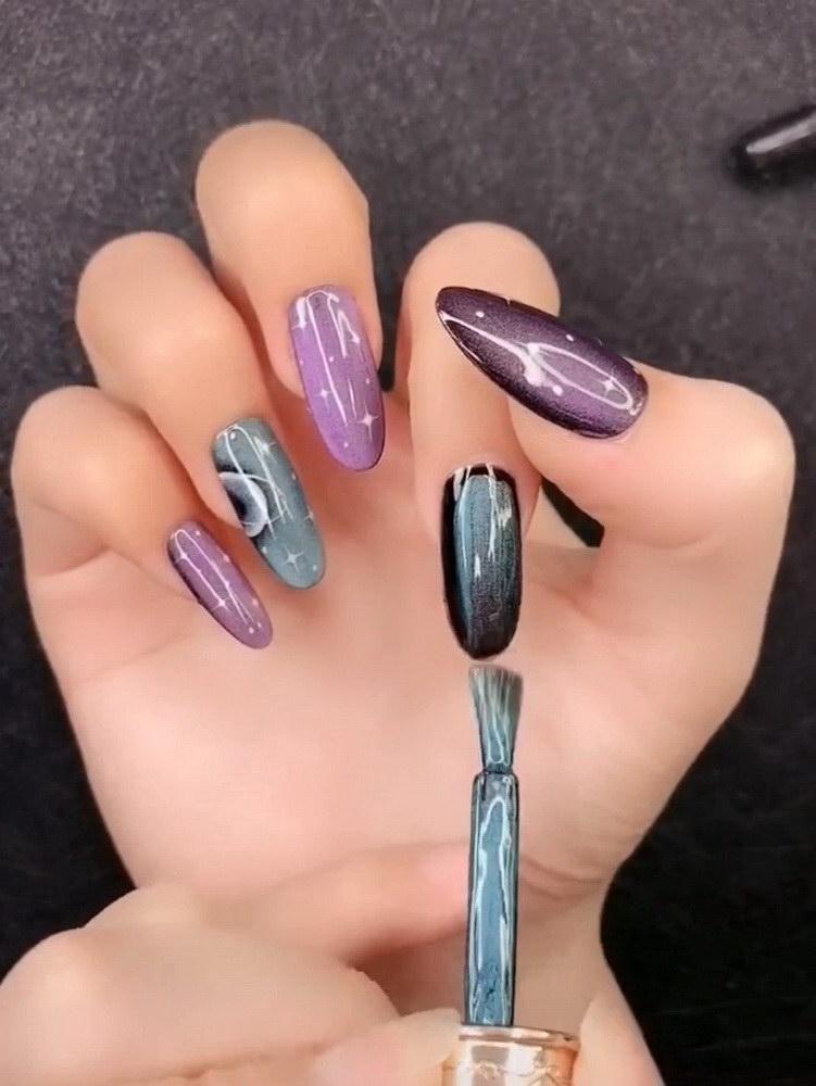 chrome polish nails