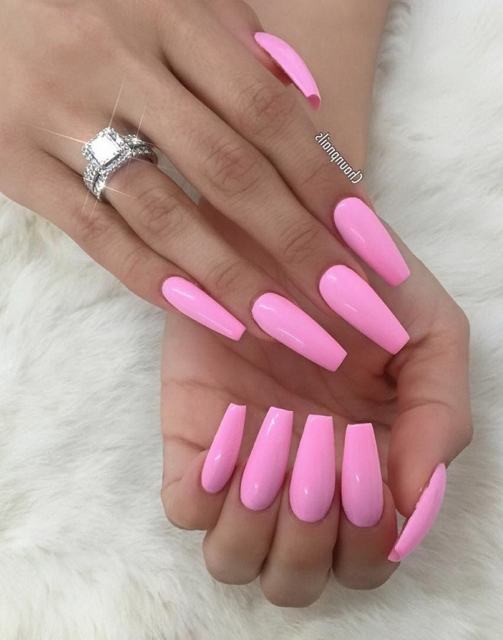 clear pink nails