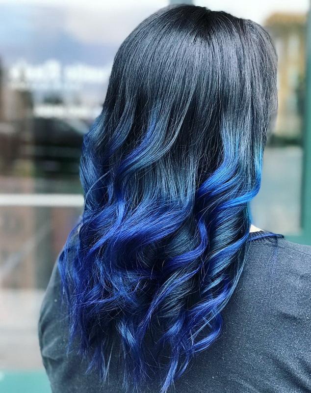 dark blue hair color