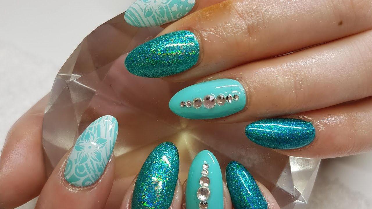 diamond gel nails