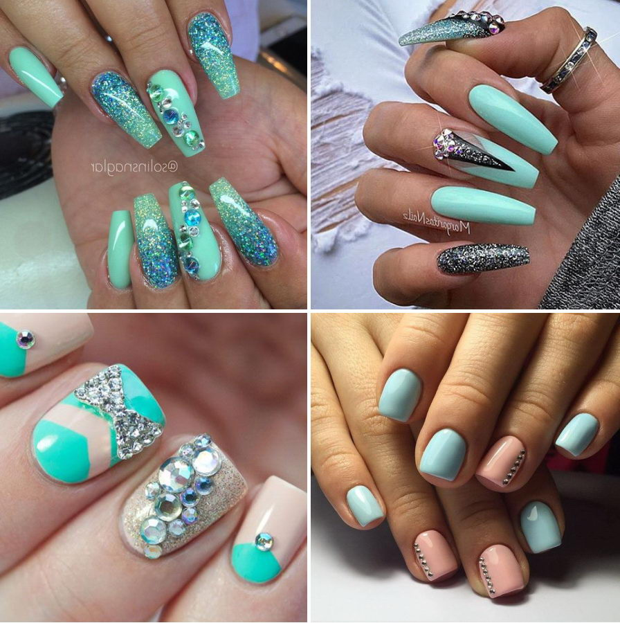 diamond glitter nails