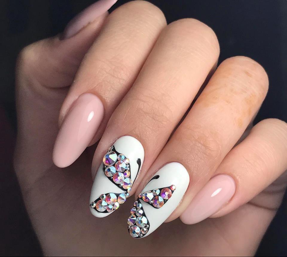 diamond nails Swarovski