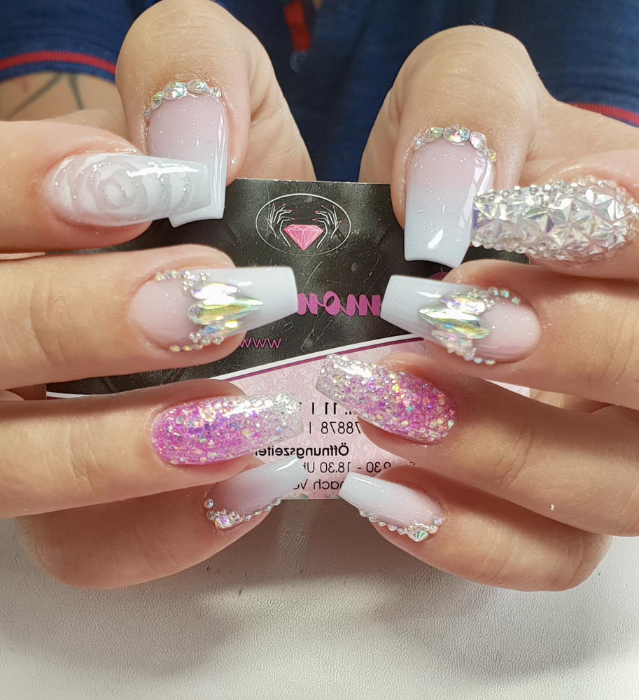 french diamond nails