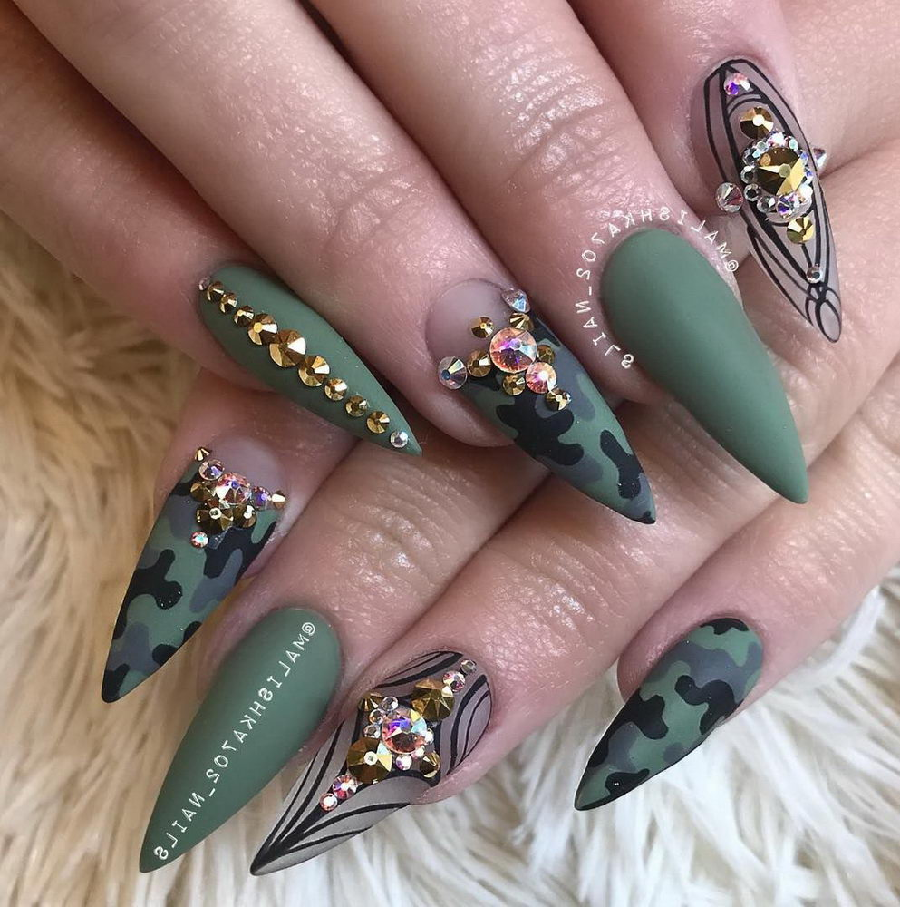 gems on nails