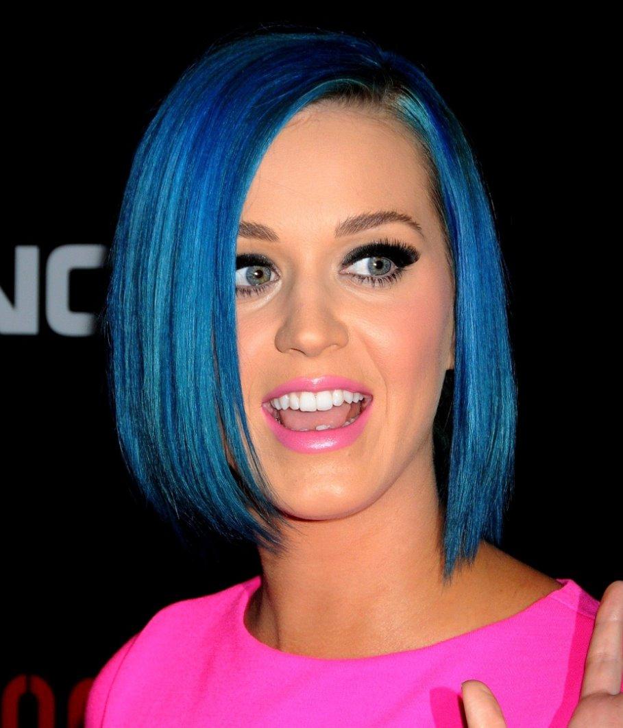 katy perry bob blue hair