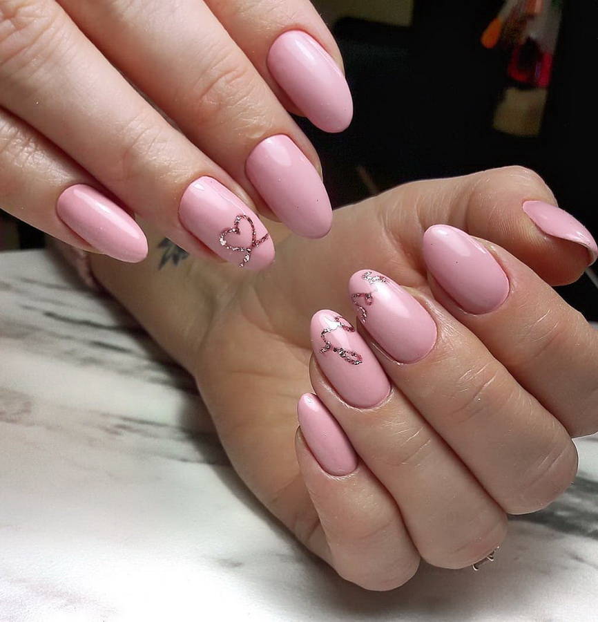 light pink matte nails