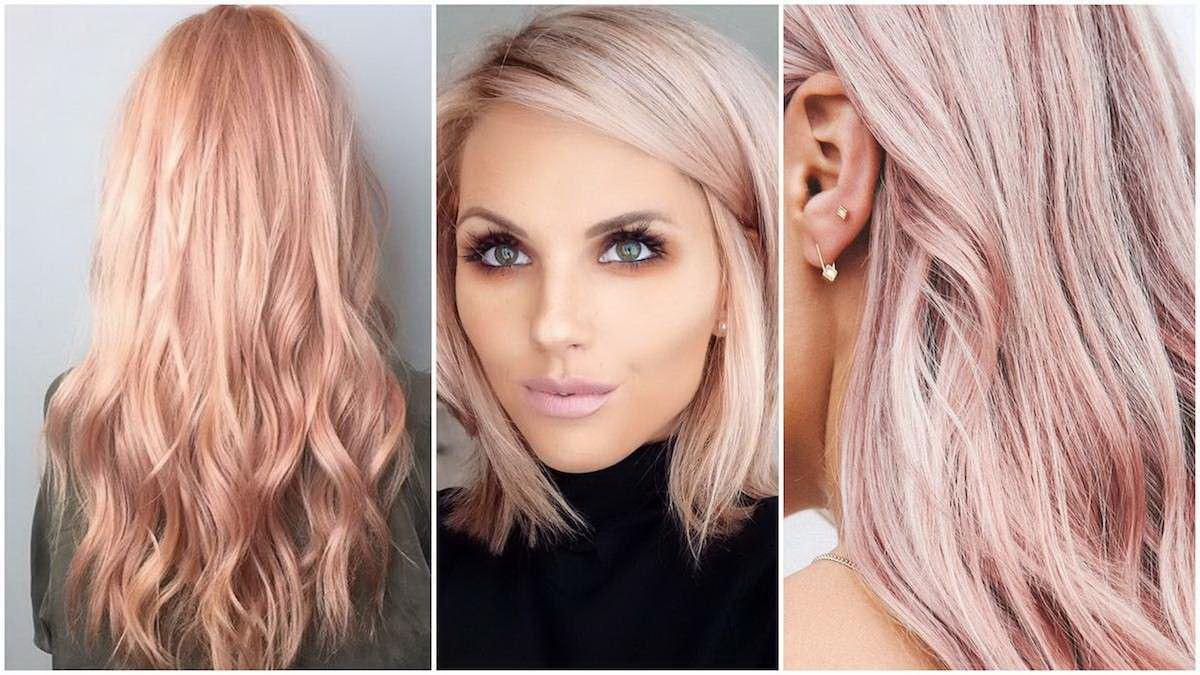 light rose gold hair