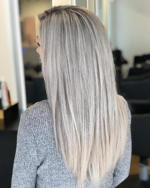 long hair ash blonde
