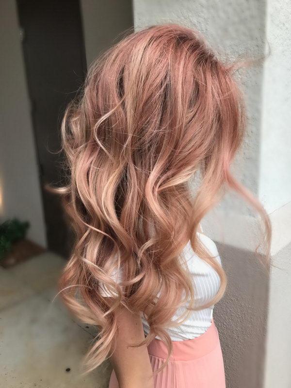 long strawberry blonde hair