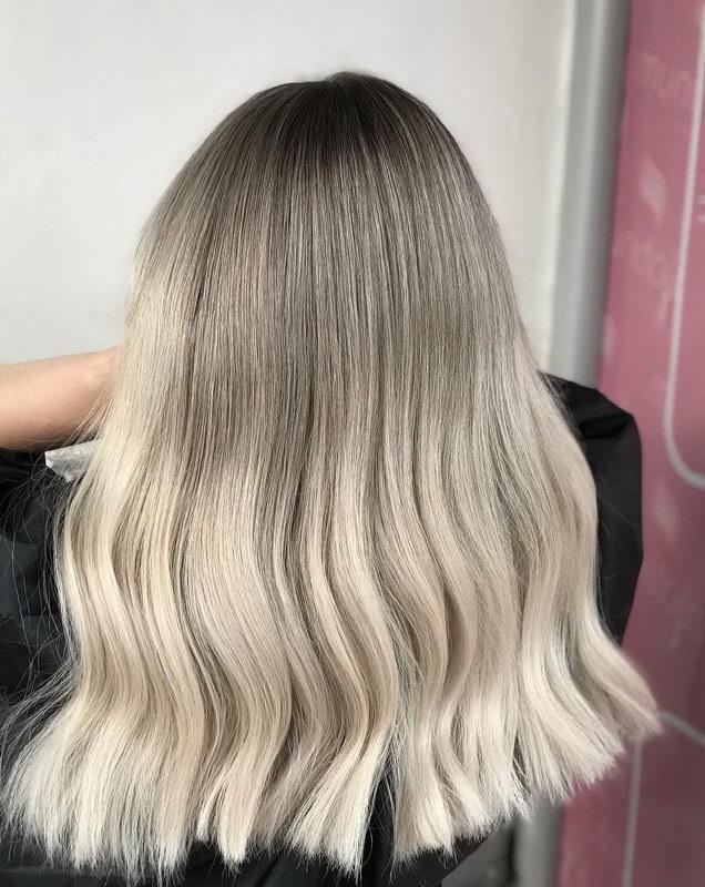 ombre ash blonde