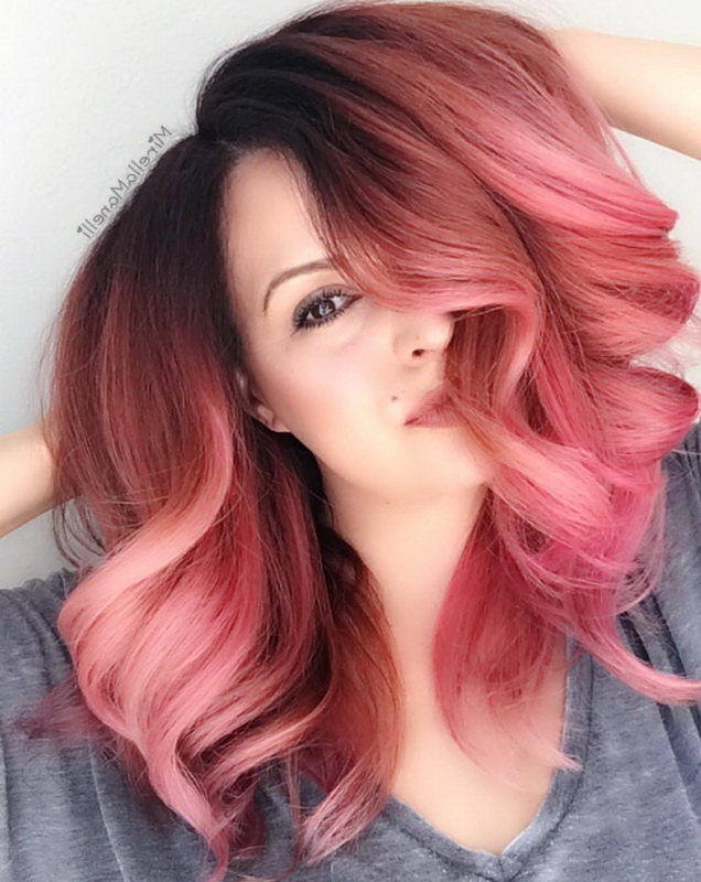 ombre rose gold hair