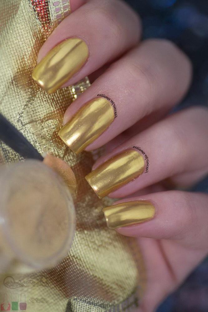 orange chrome nails