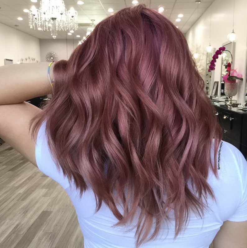 overtone rose gold brown hair