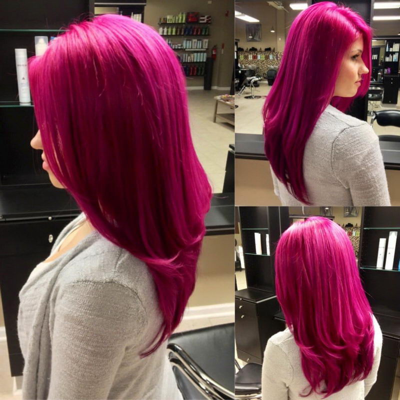 pink hair styles
