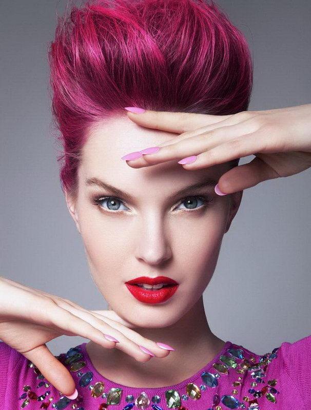pink reddish hair
