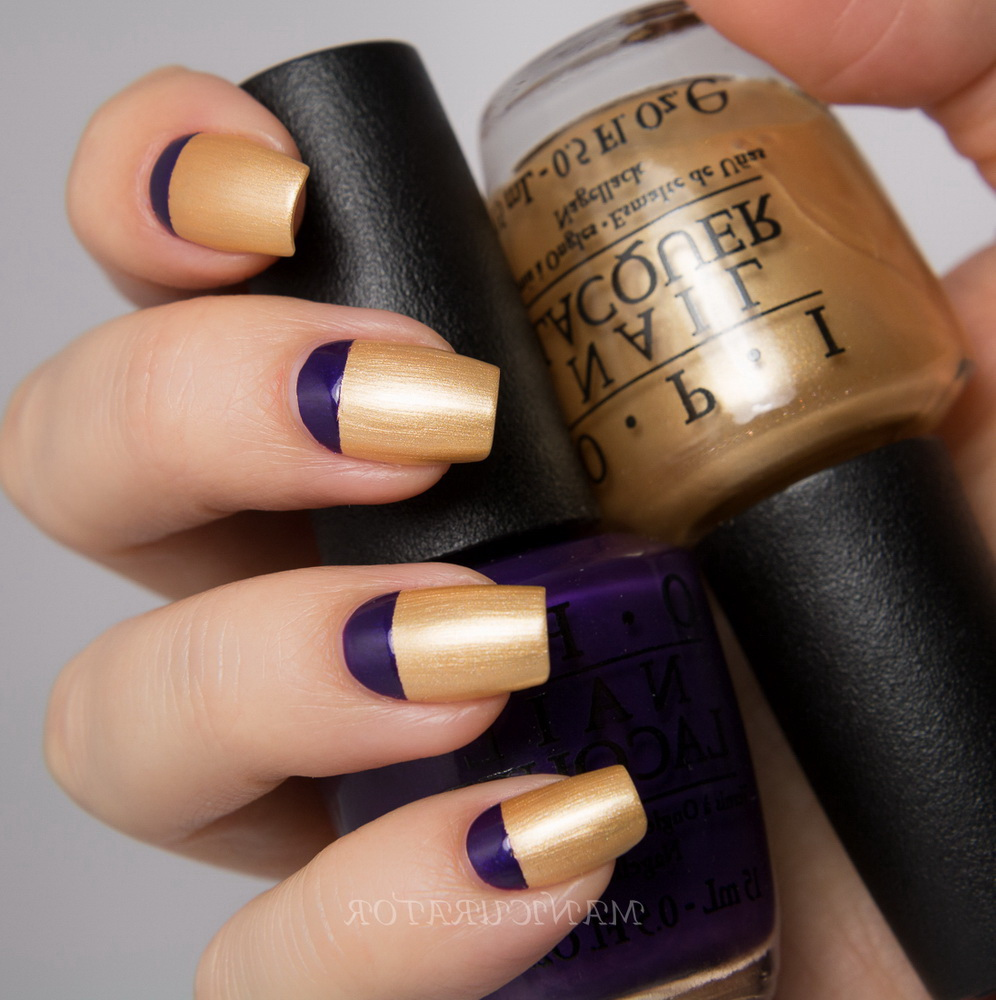 purple and gold regal nails