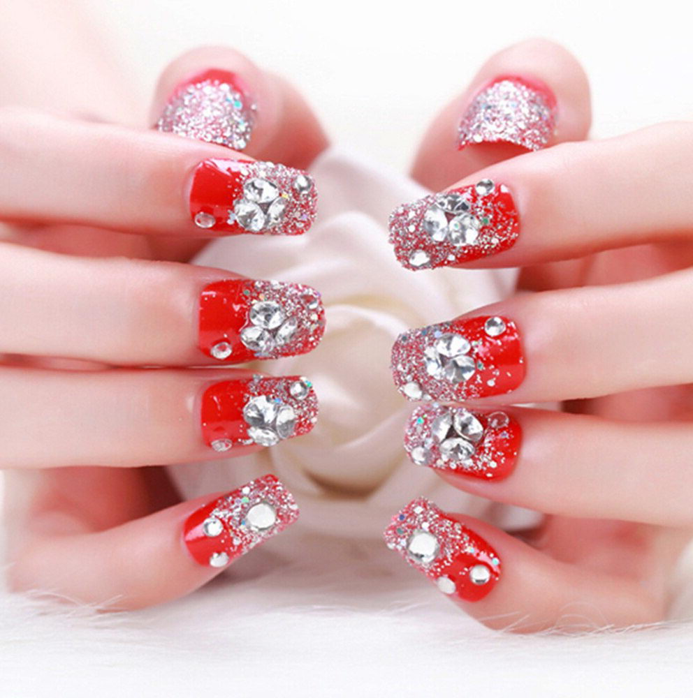 red diamond nails