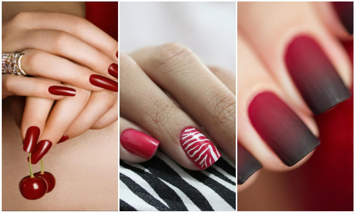 red nails models