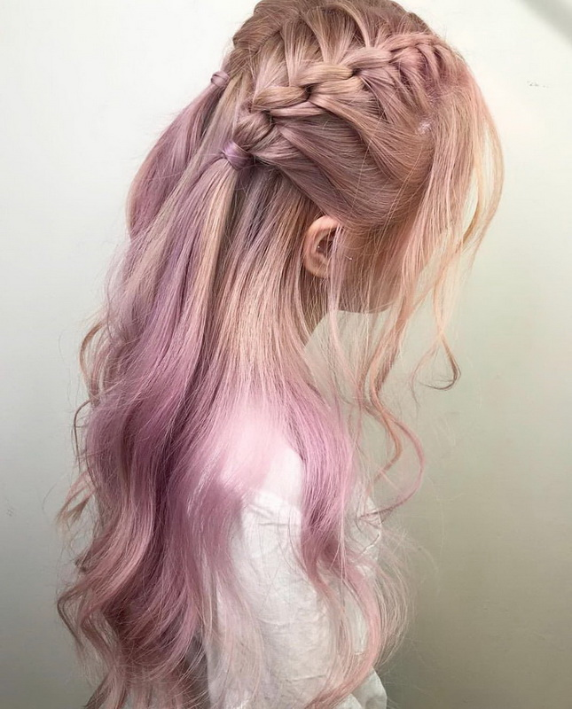rose gold braiding hair