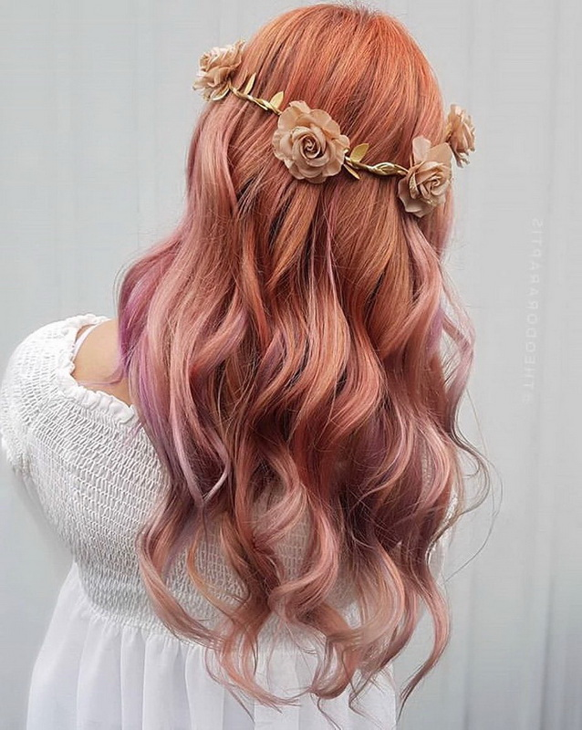 rose gold hair color trend