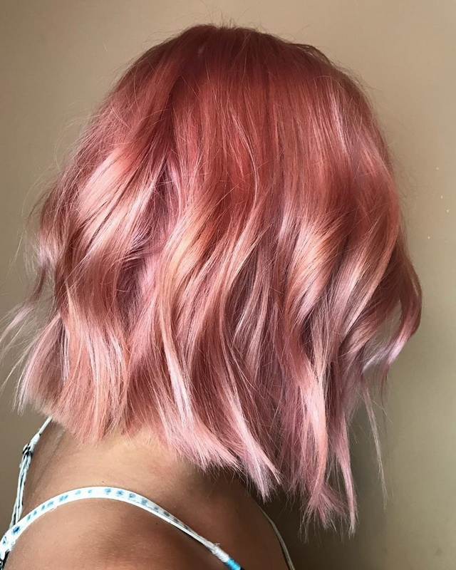rose gold hair coloring