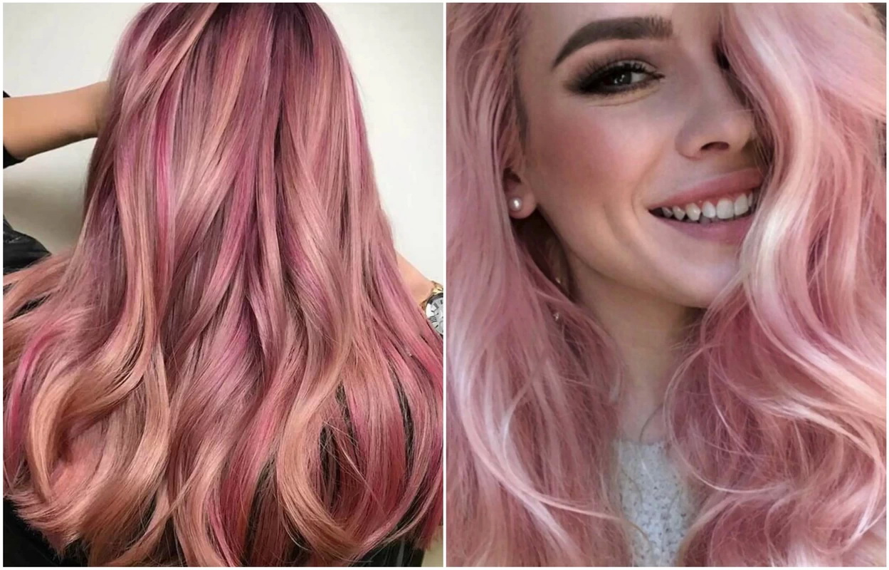rose gold hair colors