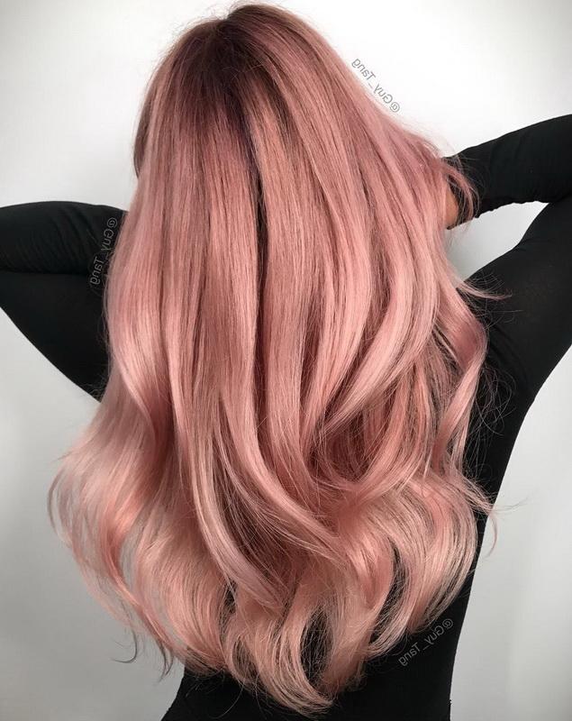 rose gold hair dye