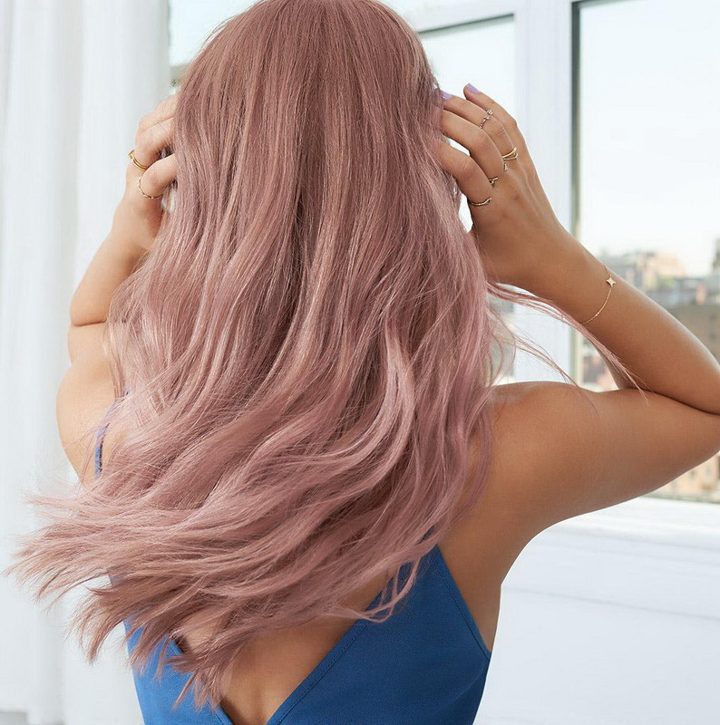 rose gold hair extensions
