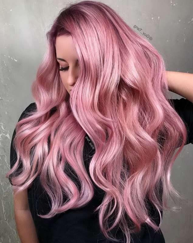 rose gold hair highlights