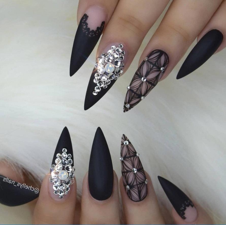 sharp nails with diamond