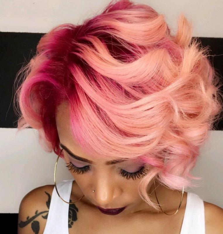 short rose gold hair