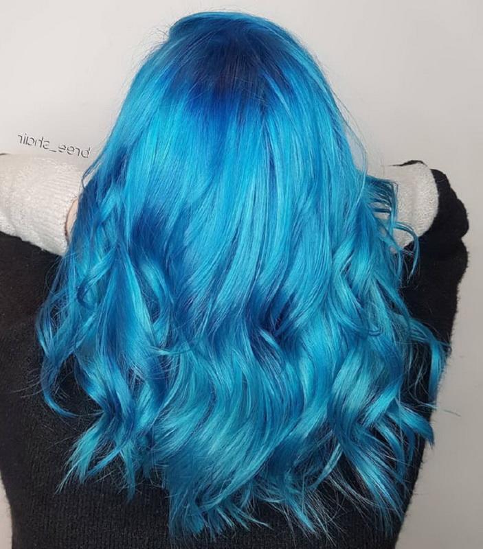 sky blue hair